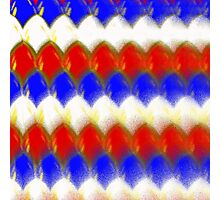 Red White & Blue Spotty Scales Photographic Print