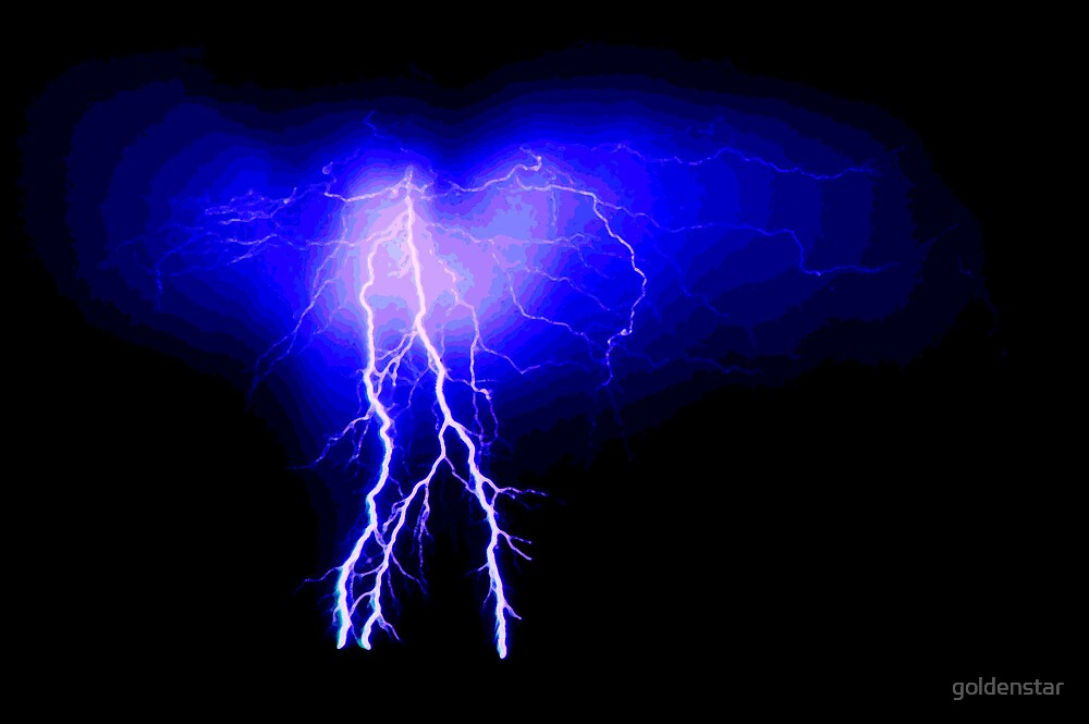 Blue lightning with ripple pattern by goldenstar