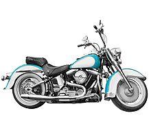 Vintage retro motorcycle Photographic Print