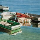 Five dinghies by Freda Surgenor