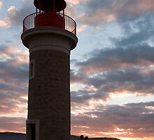 Lighthouse at Dusk, St. Tropez, South of France. by Peter Stone