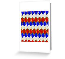 Red White & Blue with Gold Scales Greeting Card