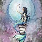 Magic Mermaid Watercolor Fantasy Art Illustration by Molly  Harrison