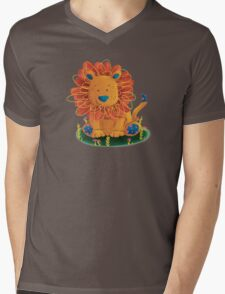 Little Lion Mens V-Neck T-Shirt
