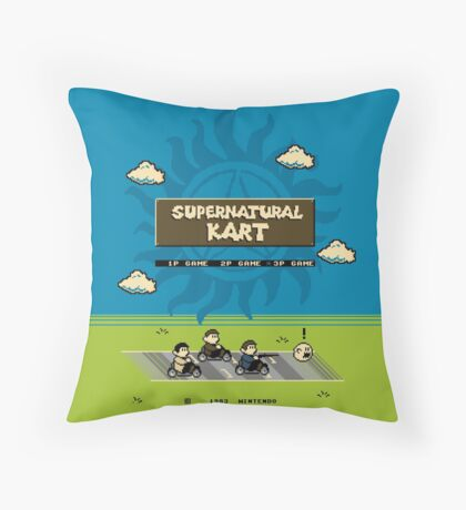 Supernatural Kart Throw Pillow