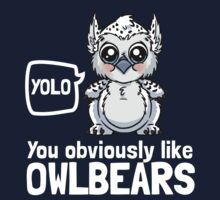 YOLO - You Obviously Love Owlbears (Wee Beasties - Snowy Wee Owlbear) One Piece - Long Sleeve
