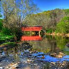 Spring at Foxcatcher Bridge   by Monte Morton
