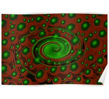 Green and red space Poster