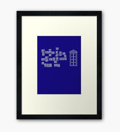 Don't Blink - Twisted Type (version 2) Framed Print