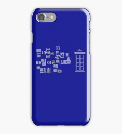 Don't Blink - Twisted Type (version 2) iPhone Case/Skin