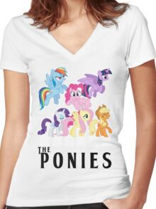 The Ponies - Beatles inspired Women's Fitted V-Neck T-Shirt