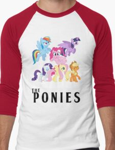 The Ponies - Beatles inspired Men's Baseball ¾ T-Shirt