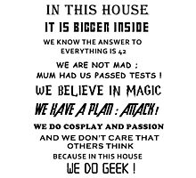 The Geek House Photographic Print