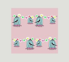 Magpies in cages with fairy lights Womens Fitted T-Shirt