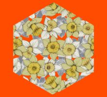 Daffodil Daze - yellow & grey daffodil illustration pattern Kids Clothes