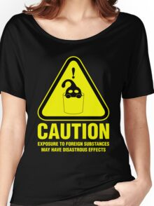 Suu Hazard Sign (English version, for dark backgrounds) Women's Relaxed Fit T-Shirt