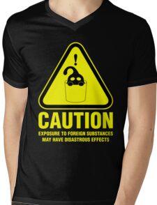 Suu Hazard Sign (English version, for dark backgrounds) Mens V-Neck T-Shirt