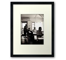 A Little Quiet Between Breakfast and Bustle Framed Print
