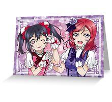 Nico & Maki (KiRa-KiRa Sensation camo edit) Greeting Card