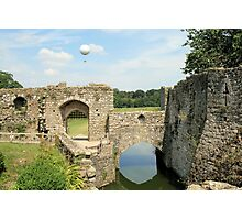 Leeds Castle and balloon Photographic Print