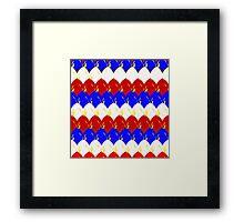 Red White & Blue Dragon Scales Framed Print