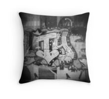 Diana Graffiti Throw Pillow
