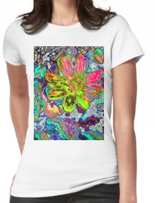 Spring Flower. Womens Fitted T-Shirt