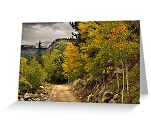 The Trail To Autumn Greeting Card