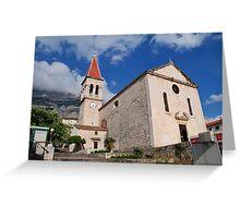 Church of St. Mark at Makarska, Croatia Greeting Card
