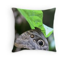 Owl butterfly hanging Throw Pillow