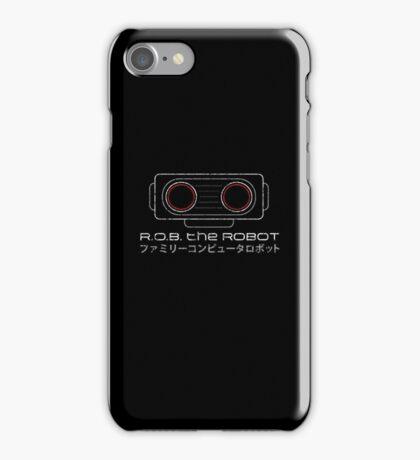 R.O.B. The Robot - Retro Minimalist - Black Dirty iPhone Case/Skin