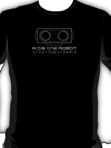 R.O.B. The Robot - Retro Minimalist - Black Dirty T-Shirt