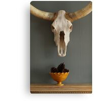 Skull and Pine Cones Canvas Print