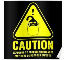 Suu Hazard Sign, Mischievous Version (English text, for dark backgrounds) Poster