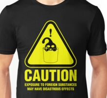 Suu Hazard Sign, Mischievous Version (English text, for dark backgrounds) Unisex T-Shirt