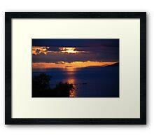 Brela sunset, Croatia Framed Print