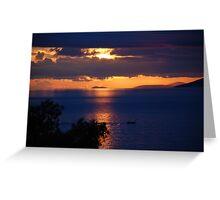 Brela sunset, Croatia Greeting Card