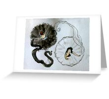 Dancer's Yin Yang Greeting Card
