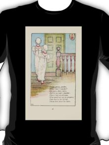 Mother Goose or the Old Nursery Rhymes by Kate Greenaway 1881 0032 Gooesey Goosey Gander T-Shirt