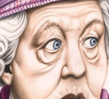 The original Miss Marple : Dame Margaret Rutherford (501 views as at 16th August 2011) Sticker