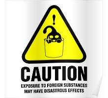 Suu Hazard Sign, Mischievous Version (English text, for light backgrounds) Poster