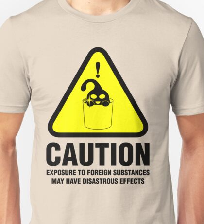 Suu Hazard Sign, Mischievous Version (English text, for light backgrounds) Unisex T-Shirt