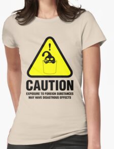 Suu Hazard Sign, Mischievous Version (English text, for light backgrounds) Womens Fitted T-Shirt