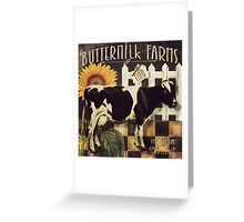 Vermont Farms Buttermilk Cow Greeting Card