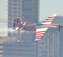 Paul Bonhomme At Perth Round of Red Bull Air Race 2010 by Stephen Horton