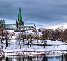 Nidaros Cathedral Under Blue by Michael Stiso