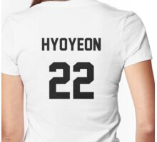 SNSD Hyoyeon Jersey Womens Fitted T-Shirt