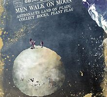 Men walk on Moon Astronauts  by JBJart
