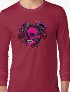 Karaoke Skull! Long Sleeve T-Shirt