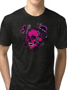 Karaoke Skull! Tri-blend T-Shirt